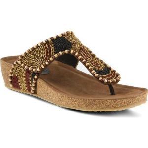 アズラ レディース サンダル・ミュール シューズ・靴 Lachlana Thong Sandal Brown Multi Leather|fermart-shoes