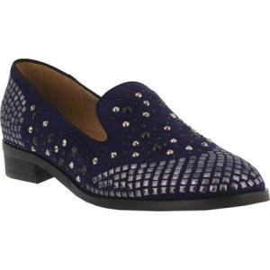 アズラ レディース ローファー・オックスフォード シューズ・靴 Alisia Loafer Navy Micro Suede|fermart-shoes