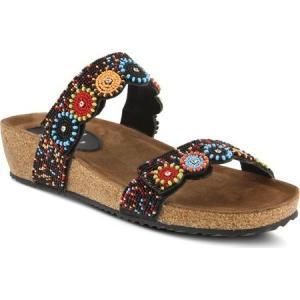 アズラ レディース サンダル・ミュール シューズ・靴 Bahama Slide Sandal Black Multi Leather|fermart-shoes