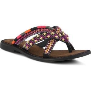 アズラ レディース サンダル・ミュール シューズ・靴 Triage Thong Sandal Black Multi Leather|fermart-shoes