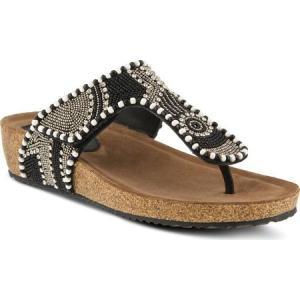 アズラ レディース サンダル・ミュール シューズ・靴 Lachlana Thong Sandal Black Multi Leather|fermart-shoes