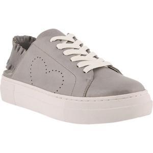 アズラ レディース スニーカー シューズ・靴 Backstrap Slingback Sneaker Grey Leather|fermart-shoes