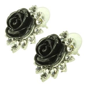 ケイトマリー レディース イヤリング・ピアス ジュエリー・アクセサリー Fashion Earrings Rose 3 Black|fermart-shoes