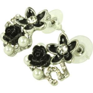 ケイトマリー レディース イヤリング・ピアス ジュエリー・アクセサリー Fashion Earrings Rose 2 Black|fermart-shoes