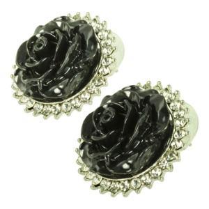 ケイトマリー レディース イヤリング・ピアス ジュエリー・アクセサリー Fashion Earrings Rose 4 Black|fermart-shoes
