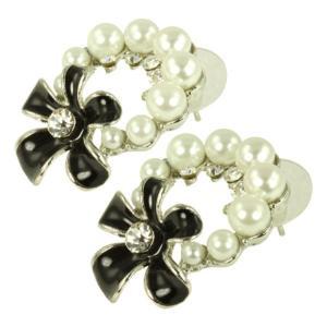 ケイトマリー レディース イヤリング・ピアス ジュエリー・アクセサリー Fashion Earrings Flower 4 Black|fermart-shoes