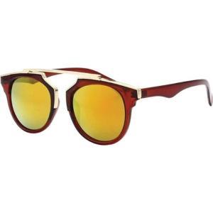 SWG レディース メガネ・サングラス Bi-color Flat Brow Aviator Sunglasses SWGTU6117 Brown fermart-shoes