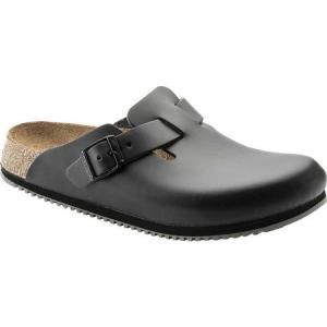 ビルケンシュトック Birkenstock レディース シューズ・靴 クロッグ Boston Super Grip Black Leather|fermart-shoes