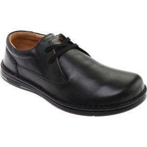 ビルケンシュトック メンズ 革靴・ビジネスシューズ シューズ・靴 Memphis Leather Low Oxford Black Leather|fermart-shoes