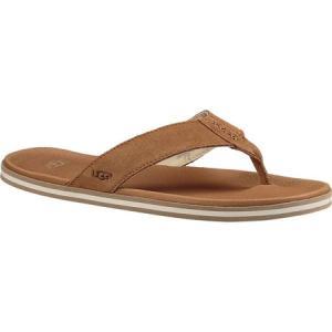 アグ メンズ ビーチサンダル シューズ・靴 Beach Flip Flop Chestnut Suede|fermart-shoes