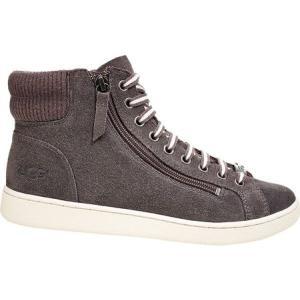 アグ UGG レディース シューズ・靴 Olive Suede High Top Charcoal Suede|fermart-shoes