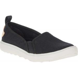 メレル Merrell レディース スリッポン・フラット シューズ・靴 Around Town Ada Moc Canvas Slip On Black Canvas|fermart-shoes