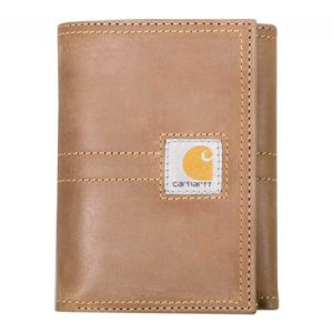 カーハート Carhartt メンズ 財布 Legacy Trifold Full Grain Leather Wallet Brown|fermart-shoes