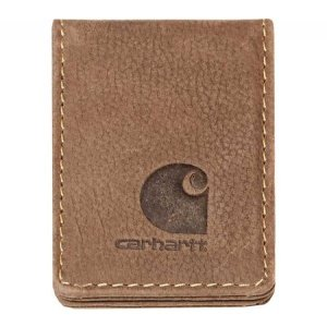 カーハート Carhartt メンズ マネークリップ Pebble Full Grain Leather Money Clip Brown|fermart-shoes