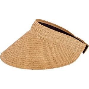 サンディエゴハット レディース サンバイザー 帽子 Ultrabraid Large Bill Visor PBV009 Natural|fermart-shoes