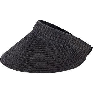 サンディエゴハット レディース サンバイザー 帽子 Ultrabraid Large Bill Visor PBV009 Black|fermart-shoes