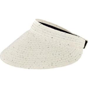 サンディエゴハット レディース サンバイザー 帽子 Ultrabraid Large Bill Visor PBV009 White|fermart-shoes