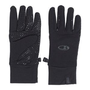 アイスブレーカー メンズ 手袋・グローブ Sierra Gloves with Silicon Palm Grip Black/Black|fermart-shoes
