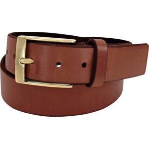 フローシャイム メンズ ベルト Full Grain Leather Beveled Edge Belt Cognac Full Grain Leather|fermart-shoes