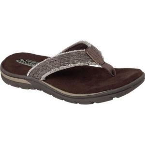 スケッチャーズ Skechers メンズ シューズ・靴 ビーチサンダル Relaxed Fit Supreme Bosnia Chocolate|fermart-shoes