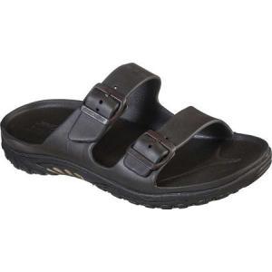 スケッチャーズ Skechers メンズ サンダル シューズ・靴 Cali Gear Reggae Waller Two Band Slide Chocolate|fermart-shoes