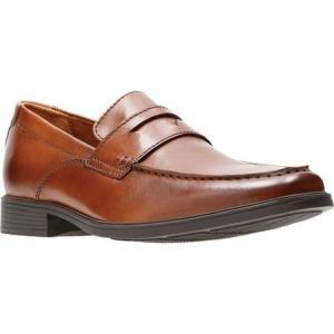 クラークス メンズ ローファー シューズ・靴 Tilden Way Penny Loafer Tan Full Grain Leather|fermart-shoes