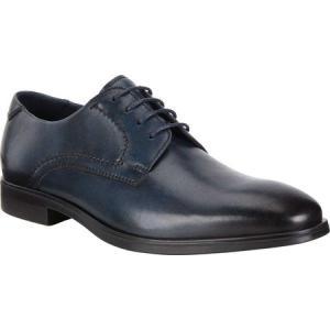 エコー ECCO メンズ 革靴・ビジネスシューズ シューズ・靴 Melbourne Oxford Tie Denim Blue Leather|fermart-shoes