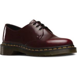 ドクターマーチン Dr. Martens メンズ シューズ・靴 ビジネスシューズ Vegan 1461 3-Eye Gibson Cherry Red Cambridge Brush|fermart-shoes
