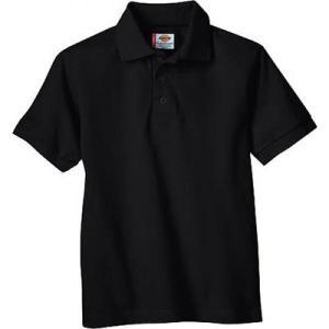 ディッキーズ メンズ ポロシャツ トップス Short Sleeve Pique Polo Black fermart-shoes