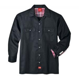 ディッキーズ メンズ シャツ トップス Long Sleeve Work Shirt Tall Black fermart-shoes