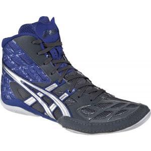 アシックス メンズ シューズ・靴 レスリング Split Second 9 Graphite/Silver/Royal|fermart-shoes