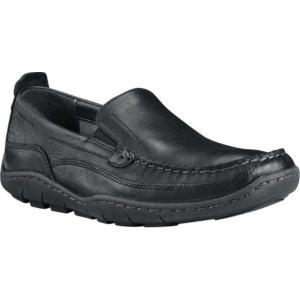 ティンバーランド メンズ スリッポン・フラット シューズ・靴 Sandspoint Venetian Slip-On Black Full-Grain Leather|fermart-shoes