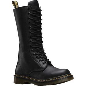 ドクターマーチン Dr. Martens レディース シューズ・靴 ブーツ 1B99 14-Eye Zip Boot Black Virginia|fermart-shoes
