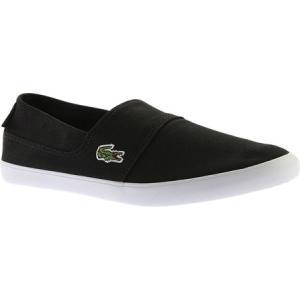 ラコステ メンズ スリッポン・フラット シューズ・靴 Marice BL 2 Slip-On Black Canvas fermart-shoes