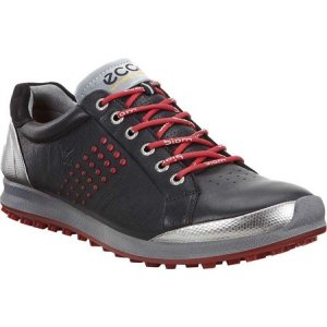 エコー メンズ シューズ・靴 ゴルフ BIOM Hybrid Tie Hydromax Golf Shoe Black/Brick Leather|fermart-shoes