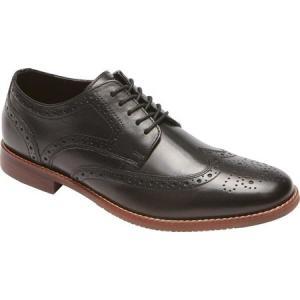 ロックポート Rockport メンズ シューズ・靴 ビジネスシューズ Style Purpose Wing Tip Oxford Black 2 Leather|fermart-shoes