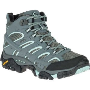 メレル Merrell レディース シューズ・靴 ブーツ Moab 2 Mid GORE-TEX Hiking Boot Sedona Sage|fermart-shoes