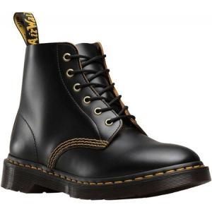 ドクターマーチン メンズ レインシューズ・長靴 シューズ・靴 101 6-Eye Boot Black Vintage Smooth Leather fermart-shoes