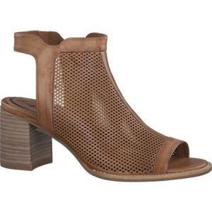 タマリス レディース サンダル・ミュール シューズ・靴 Vivi Caged Sandal Cognac Leather fermart-shoes