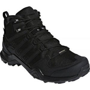 アディダス メンズ シューズ・靴 ハイキング・登山 Terrex Swift R2 Mid GORE-TEX Hiking Shoe Black/Black/Black|fermart-shoes