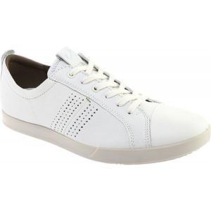エコー ECCO メンズ スニーカー シューズ・靴 Collin 2.0 Trend Sneaker White Full Grain Leather|fermart-shoes