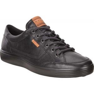 エコー メンズ スニーカー シューズ・靴 Soft 7 Sneaker Black Cow Leather|fermart-shoes