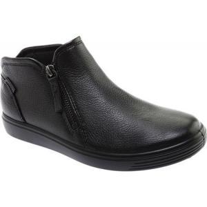エコー ECCO レディース ブーツ シューズ・靴 Soft Low Cut Zip Bootie Black Cow Leather|fermart-shoes