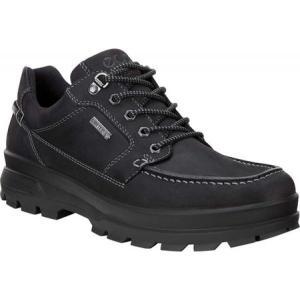 エコー ECCO メンズ スリッポン・フラット シューズ・靴 Rugged Track GORE-TEX Moc Toe Shoe Black Cow Oil Nubuck|fermart-shoes