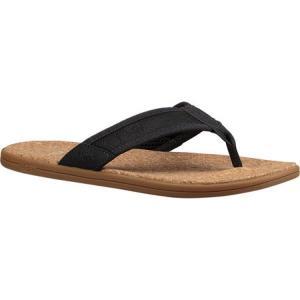 アグ メンズ ビーチサンダル シューズ・靴 Seaside Flip Flop Navy Leather fermart-shoes