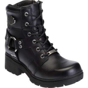 ハーレーダビッドソン レディース ブーツ シューズ・靴 Jocelyn Leather Biker Boot Black fermart-shoes