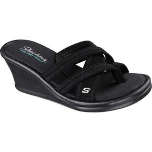 スケッチャーズ Skechers レディース サンダル・ミュール シューズ・靴 Rumblers Young At Heart Sandal Black|fermart-shoes