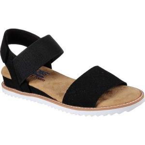 スケッチャーズ Skechers レディース サンダル・ミュール シューズ・靴 BOBS Desert Kiss Slingback Sandal Black|fermart-shoes