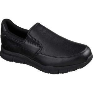 スケッチャーズ Skechers メンズ スリッポン・フラット シューズ・靴 Work Relaxed Fit Nampa Groton Slip Resistant Shoe Black|fermart-shoes