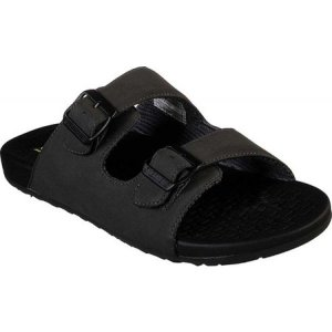 スケッチャーズ Skechers メンズ サンダル シューズ・靴 Relaxed Fit Pelem Rolento Slide Sandal Black fermart-shoes